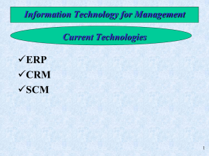 ERP CRM SCM Information Technology for Management