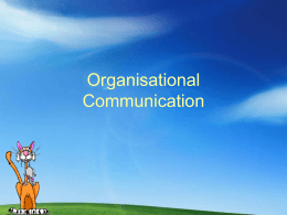 organisational communication sessionii