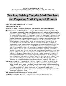 Teaching Solving Complex Math Problems and Preparing Math Olympiad Winners