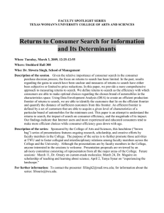 Returns to Consumer Search for Information and Its Determinants