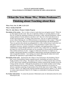 What Do You Mean 'We,' White Professor?