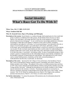 Social Identity: What's Race Got to Do With It?