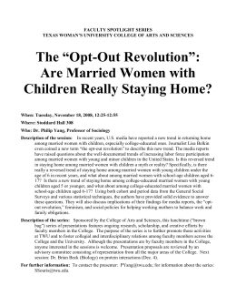 Are Married Women with Children Really Staying Home?