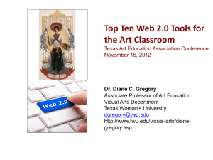Top Ten Web 2.0 Tools for the Art Classroom