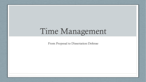 Time Management From Proposal to Dissertation Defense