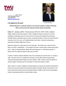 Kimberly Bookout Press Release