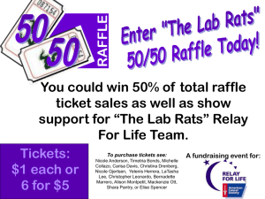 RAFFLE You could win 50% of total raffle