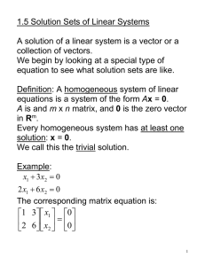 Sec. 1.5 Solutions Sets of Linear Systems.doc
