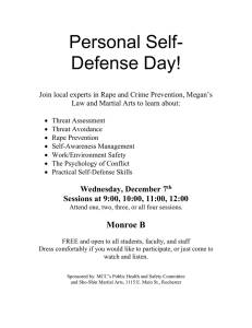 Personal Self- Defense Day!