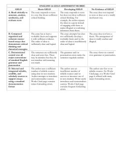 Workgroup Rubric