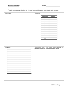 Math Activity Templates