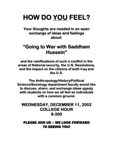 HOW DO YOU FEEL flyer re Saddham Hussein.doc