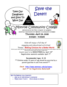 Save the Date!!! Monroe Community College