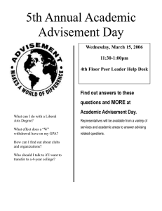 5th Annual Academic Advisement Day MORE Find out answers to these