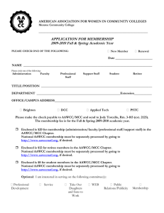 APPLICATION FOR MEMBERSHIP 2009-2010 Fall & Spring Academic Year
