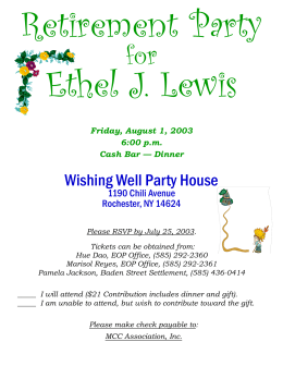 Retirement Party Ethel J. Lewis for