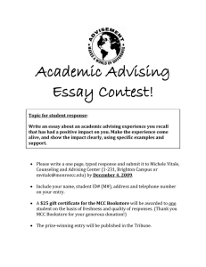 Academic Advising Essay Contest!