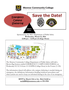 Save the Date!  Emergency Campus