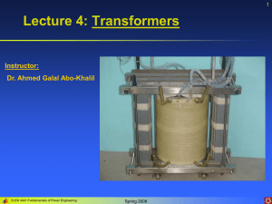 Lecture 4: Transformers Instructor: Dr. Ahmed Galal Abo-Khalil 1