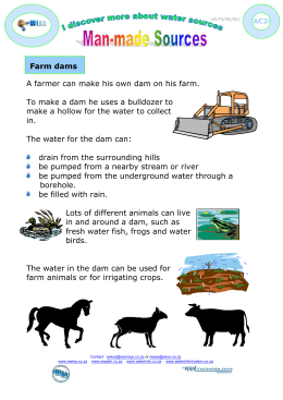 A farmer can make his own dam on his farm.