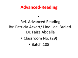 Advanced Reading Passages