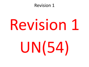 Advance Passage 1 Revision