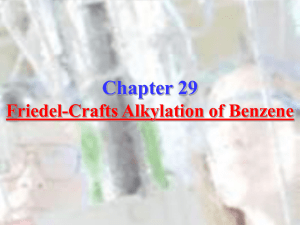 Chapter 29: Friedel-Crafts Alkylation of Benzene