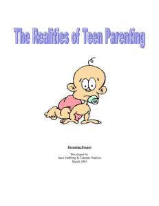 Parenting Project Developed by Janet Hallberg & Tammie Paulson