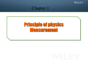 Principle of physics Measurement Chapter 1