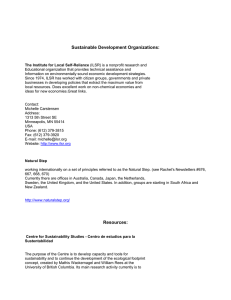 Sustainable Development Resource Packet
