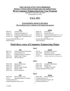 BS in Computer Engineering-Four-Year Program FALL 2013