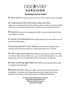 SURVIVOR Study Guide