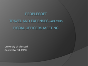 Power Point Presentation (Travel Expenses)
