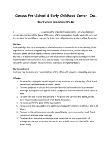 Board Service Commitment Pledge