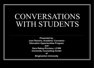 Conversations with Students