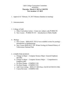 L&S College Curriculum Committee AGENDA