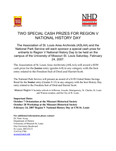 TWO SPECIAL CASH PRIZES FOR REGION V NATIONAL HISTORY DAY