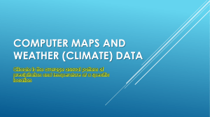 Computer maps: weather climate data