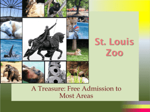 St. Louis Zoo A Treasure: Free Admission to Most Areas