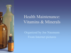 Health Maintenance - Vitamins (PPT)