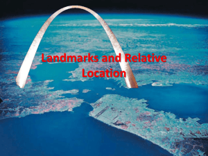 Landmarks and Relative Location