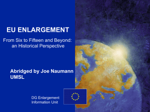Enlargement of the EU (abridged)