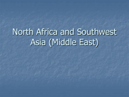 North Africa with SW Asia