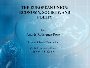 European Union - Economy, Society, Polity