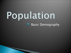 Basic Demography