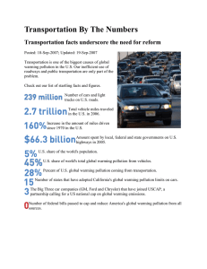 Transportation By The Numbers Transportation facts underscore the need for reform