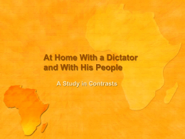 At Home with a Dictator