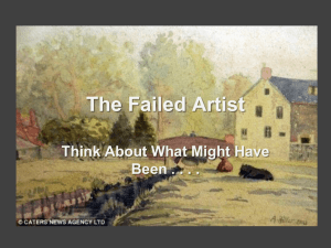 The Failed Artist Think About What Might Have