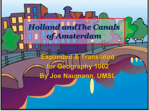 Holland and the canals of Amsterdam