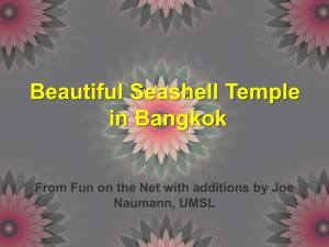 Beautiful Seashell Temple in Bangkok Naumann, UMSL